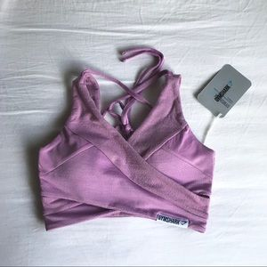 NWT Gymshark True Texture Bralette (Pastel Grape)